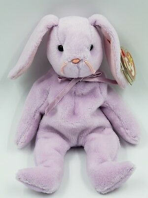 RARE Easter Special 1996 Ty Beanie Baby Floppity The Rabbit PVC With Errors MWMT