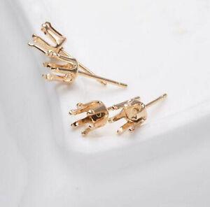 Blank Silver Earrings Setting  Studs  Jewelry Finding