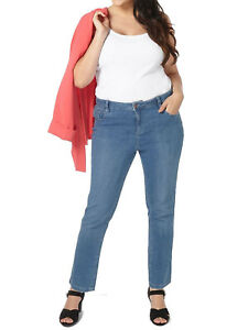 62b880830ed New Ladies Evans Denim Mid-Wash Blue Straight Leg Jeans Trouser Plus ...