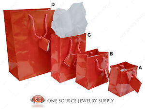 Gift Bags Red Gloss Tote Party Supplies Paper Gift Bags Holiday Bags Wedding