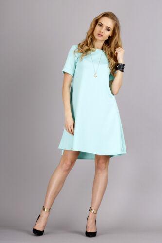 Classic /& Elegant Women/'s Dress Crew Neck Tunic Style Sizes 8-14 FA236A