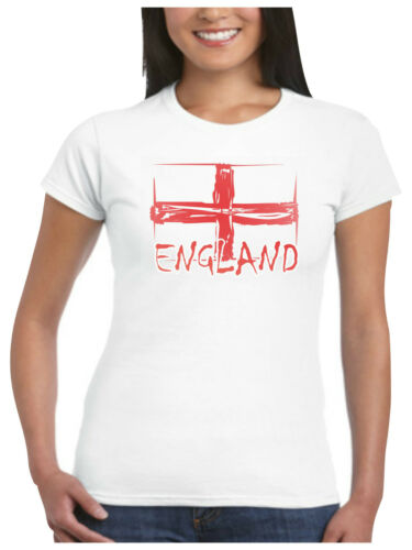 England T Shirt Ladies Shabby St Georges Flag