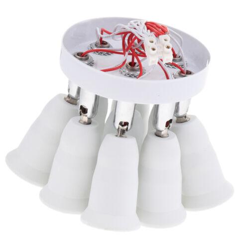 E27 Deckenleuchte 3//5//9-flammig ohne Lampen weiß