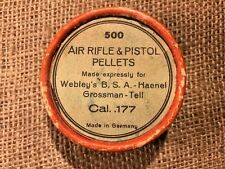 VTG Webley's B.S.A Haenel Gross Air Rifle &Pistol Pellets Box Cal .177