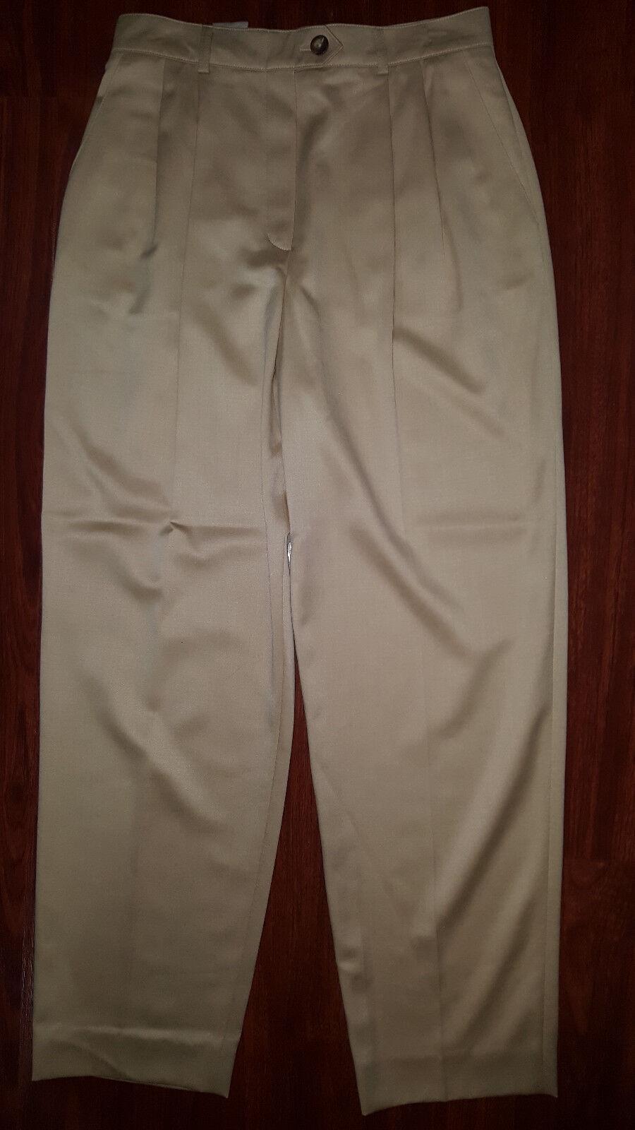 ESCADA Womens Pleated Front Dress Casual Pant Size 36 (USA Sz 8) Dark Beige