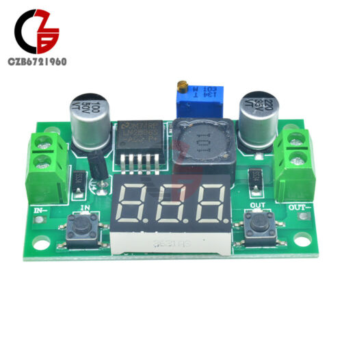 DC--DC Buck Step Down Converter Module LM2596 Voltage Regulator Led Voltmeter