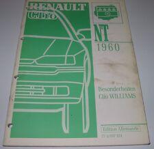 Werkstatthandbuch Renault Clio Williams 16V 2,0 Liter 147 PS Besonderheiten 1991