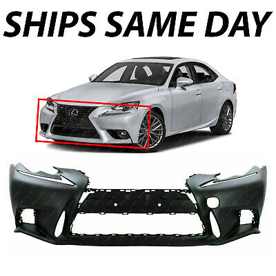 Front Bumper Cover For 2014-2015 Lexus IS250 w// F-Sport Pkg//HLW holes Primed