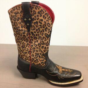 1bbc0c63ff9 Details about Ariat Women's 10010171 Legend Spirit Black Deertan Leopard  Western Boot 8.5