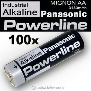 100x-MIGNON-AA-LR6-MN1500-Batterie-PANASONIC-POWERLINE-INDUSTRIAL