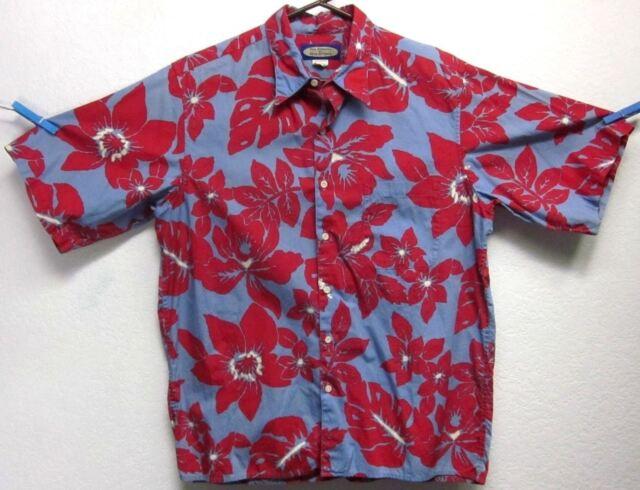 PHIL EDWARDS BY REYN SPOONER MENS (M) FLORAL BUTTON-FRONT HAWAIIAN SHIRT EUC USA