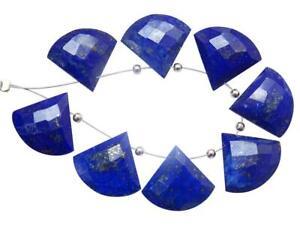 Natural Lazuli Lapi Faceted Gemstone Beads 15 MM Trillion Shape 10 pecs GU-1047
