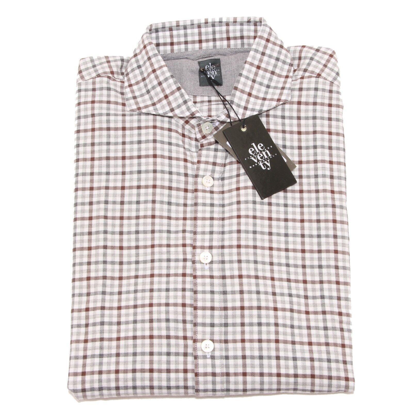 2437P camicia ELEVENTY MANICA LUNGA camicie uomo shirt men