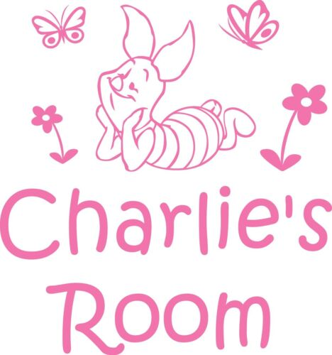 Piglet Personalised Name Sticker Decal Wall//Door//Room Any Colour Disney