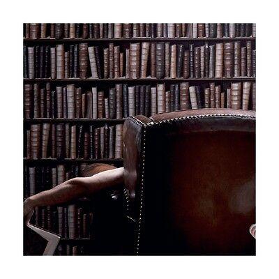 MURIVA BOOKSHELF BOOKS FEATURE WALL OFFICE BROWN VINYL DESIGNER WALLPAPER F92328