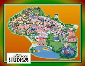 Flexible Fridge MAGNET of Florida - Disney HOLLYWOOD STUDIOS MAP | eBay