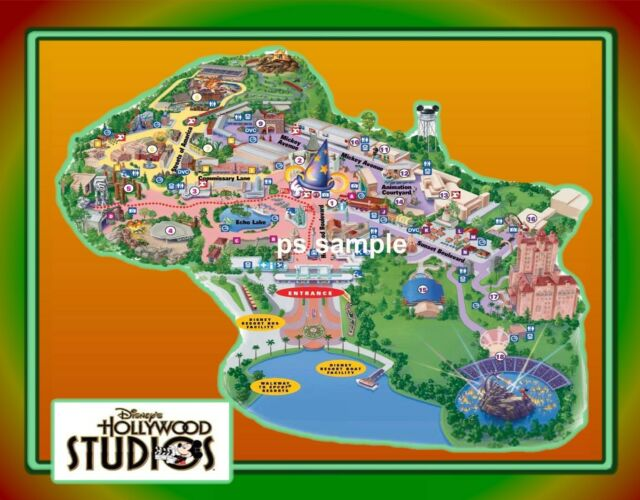 Flexible Fridge Magnet of Florida - Disney Hollywood Studios Map for ...