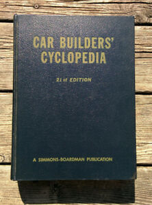 Hardcover-Reference-Book-CAR-BUILDERS-CYCLOPEDIA-1961-21st-Ed-Train-Railroad