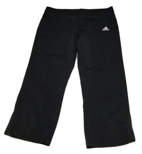 ADIDAS-Womens-Size-Medium-Black-Activewear-Capri-Pants-No-Pockets