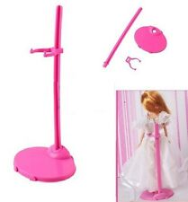 20 X Plastic Pink Hangers For Doll Dress Clothes ACCESSORIES HOT E6H2
