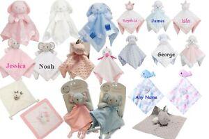 Snuggle Blanket Birth//Christening Gift Personalised Baby Comforter Teddy Bear