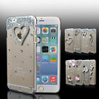 "For iPhone 7 6s 4.7""/Plus 5.5"" Bling Crystal Diamond Transparent Hard Case Cover"