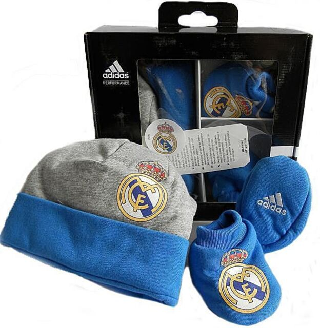 adidas Real Madrid bambino cappelloBOTTINO Set One Taglia d85865 SCATOLA REGALO