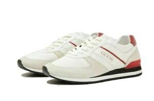 Dettagli su Scarpe sneakers da uomo Guess FM8ELE 12 in pelle scamosciata bianche sportive
