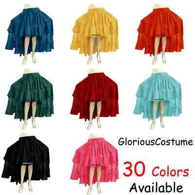 Belly Dance Chiffon Skirt Top Set Ruffle Tie Gypsy Dress Jupe Royal Blue