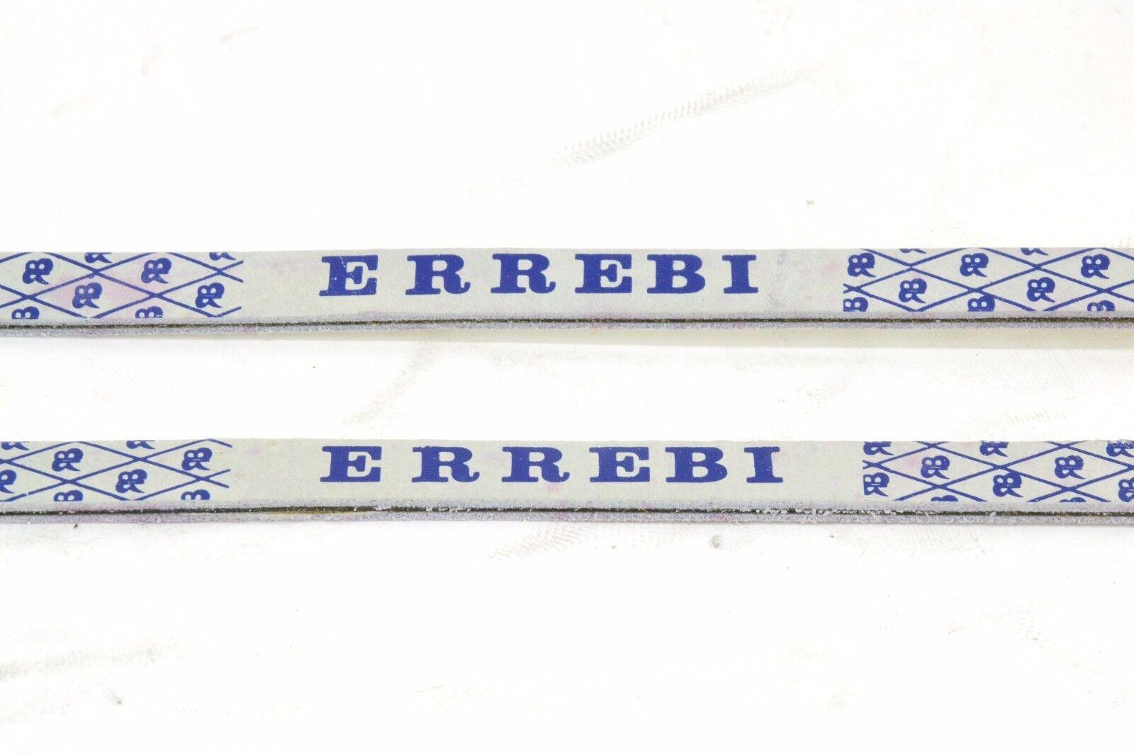 Correas del dedo del pie pie pie ERREBI Brevettato Deluxe de cuero blancoo azul nuevo viejo stock L'Eroica Paletti 70364c