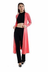 Womens-Ladies-Long-Sleeve-MAXI-Boyfriend-Cardigan-Open-Cardigans-Floaty-8-16