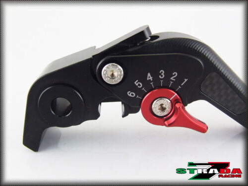 Ducati 1199 Panigale S Tricolor 12-15 Strada 7 Short Carbon Inlay Levers Black