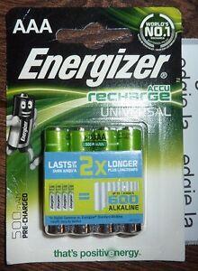 4-x-ENERGIZER-AAA-500-mAh-Rechargeable-Batteries-Universal-HR03-NiMH-2X-Longer