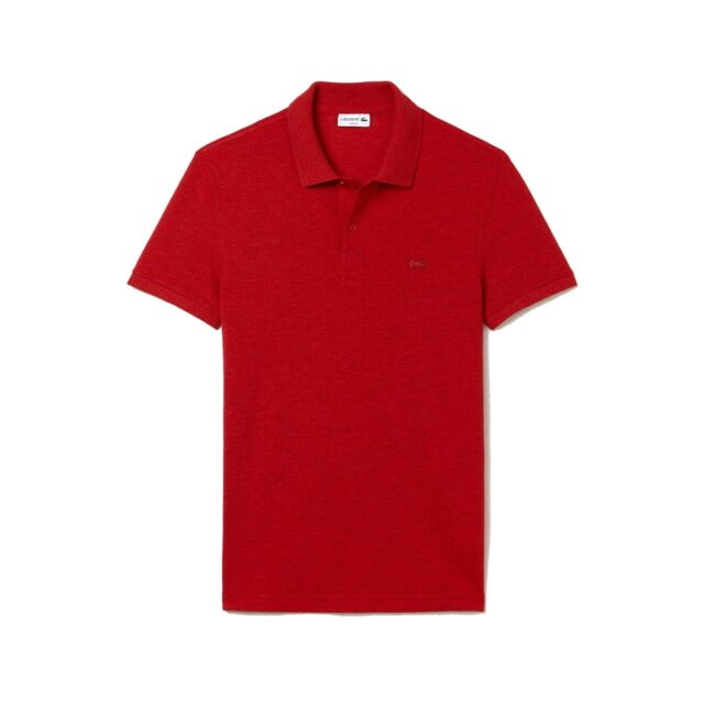 c7d8b70f2 NEW Lacoste Polo Shirt Garment Dyed Vintage Polo Tee Red Dyed NEW Authentic