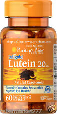Puritan's Pride Lutein w/ Zeaxanthin 20mg 60 Softgels.PayPal & Coins OK.