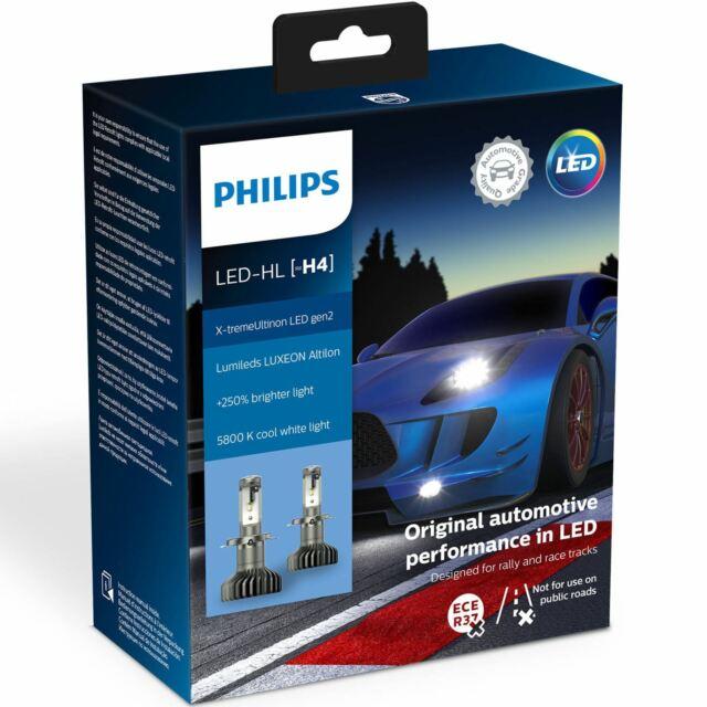 PHILIPS X-tremeUltinon Gen2 LED H4 Headlight Bulbs 11342XUWX2 x2