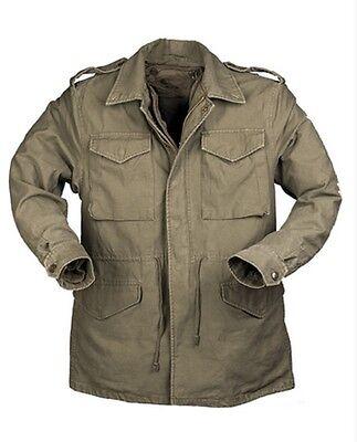 Us Feldjacke Army Vintage M1951 Prewash Jacke Mit Futter Oliv Large Regular Seien Sie Im Design Neu