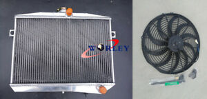50mm for Volvo Amazon P1800 GT B18 B20 engine MT aluminum radiator fan