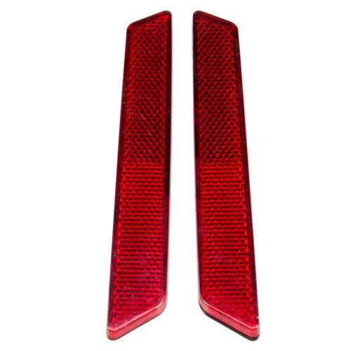 Red Latch Cover Reflectors Fit for Harley Touring FLHR FLHX Saddlebag 2014-Up