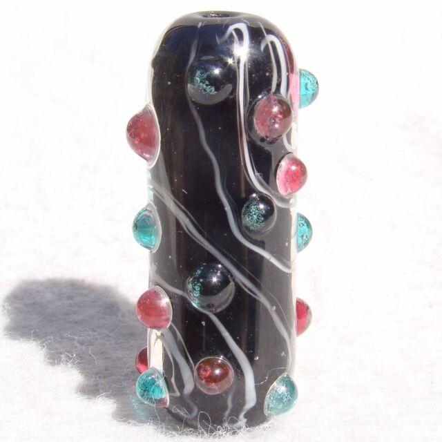 FATALE Handmade Art Glass Focal Bead Flaming Fools Lampwork Art Glass SRA