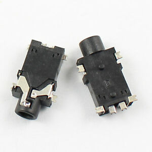 100Pcs 2.5mm Female Audio Connector SMT 6 Pin Stereo Phone Jack PJ227