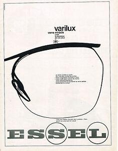 Publicite Lunettes Sur 1963 Détails Advertising Verres Varilux 114 Essel SUzqpGMV
