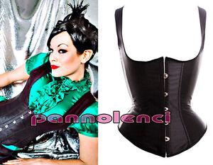 Corsetto-bustino-NERO-panciotto-burlesque-stringivita-donna-underbust-DL-162