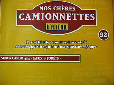 FASCICULE 92 CAMIONNETTES ANTAN SIMCA CARGO 4X4 EAUX ET FORETS CAMIONS IFA