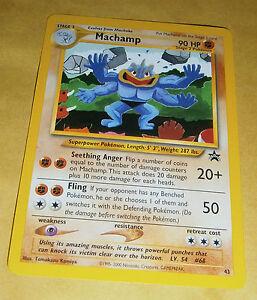 POKEMON BLACK STAR PROMO CARD #43 MACHAMP NM
