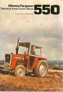massey ferguson tractor mf 550 operators manual mf550 image is loading massey ferguson tractor mf 550 operators manual mf550