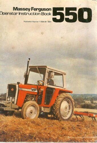 Massey Ferguson Tractor MF 550 Operators Manual MF550