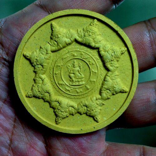Thai Amulet antiques real God Wealth Luck rich safe police Jatukam Rammathep gun