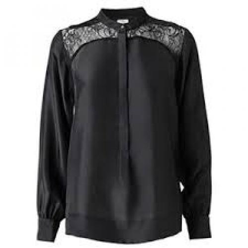 By Malene Birger Mahira silk and lace shirt blouse size 36