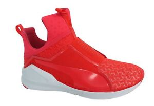 Puma Fierce Eng Mesh Slip On Red Blast Wome Textile Trainers ... 8c8739ae1